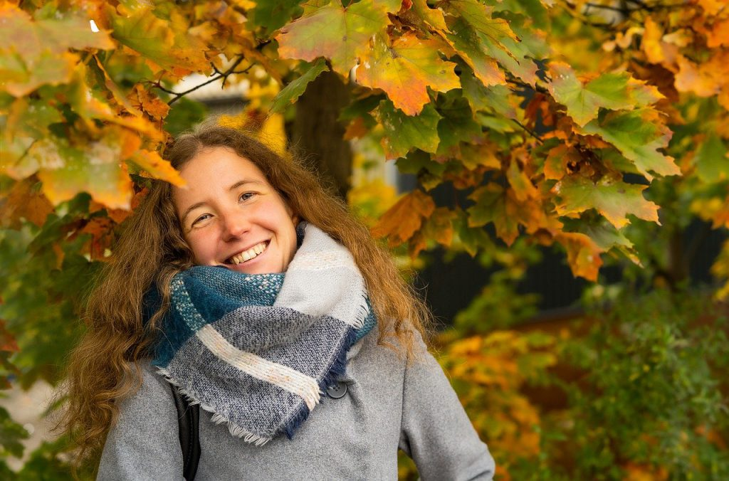 woman, model, scarf